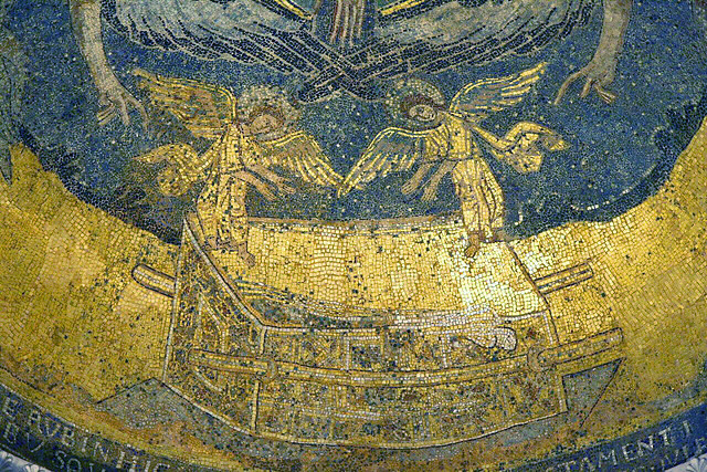 Ark of the Covenant (Byzantine mosaic from 805 AD)