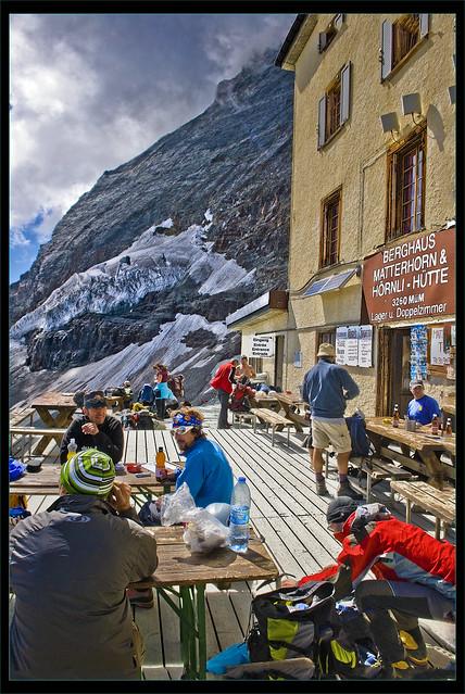 Berghaus Matterhorn and Hörnli Hütte (3260m alt. ) Zermatt Canton de Valais, Switzerland. No,1846.