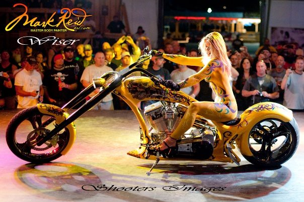 Celeb Body Paint Nude Bicycle Race Gif