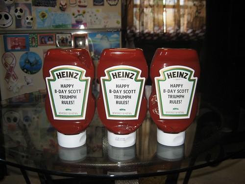 my custom ketchup..i fucking hate mustard