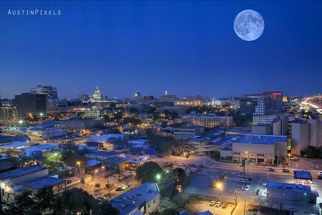 Bird's Eye View of Downtown Austin