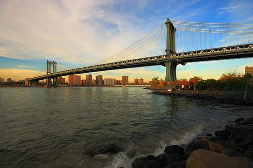 park bridge sunset sea panorama newyork brooklyn landscape view manhattan fultonferry platinumheartaward goldstaraward internationalgeographic
