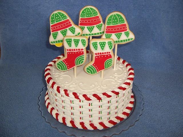 Christmas basketweave