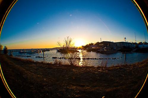 sunrise harbor massachusetts plymouth fisheye