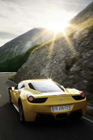 Ferrari 458 Italia iPhone wallpaper