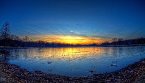 Half Frozen Lake | by Cory Disbrow