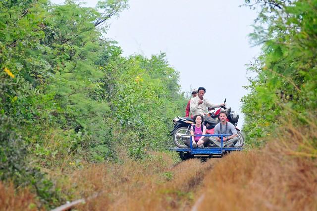 Cambodia D6 040 - Battambang Bamboo Train (Nori ride)