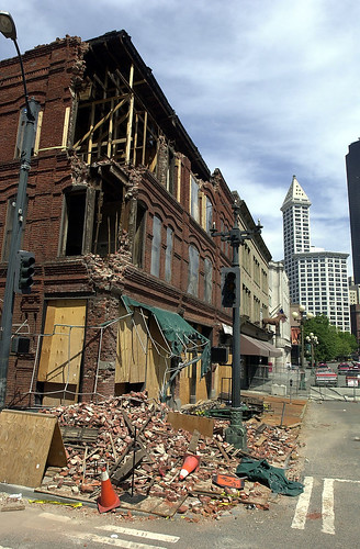 Cadillac Hotel earthquake damage, 2001 | by Seattle Municipal Archives