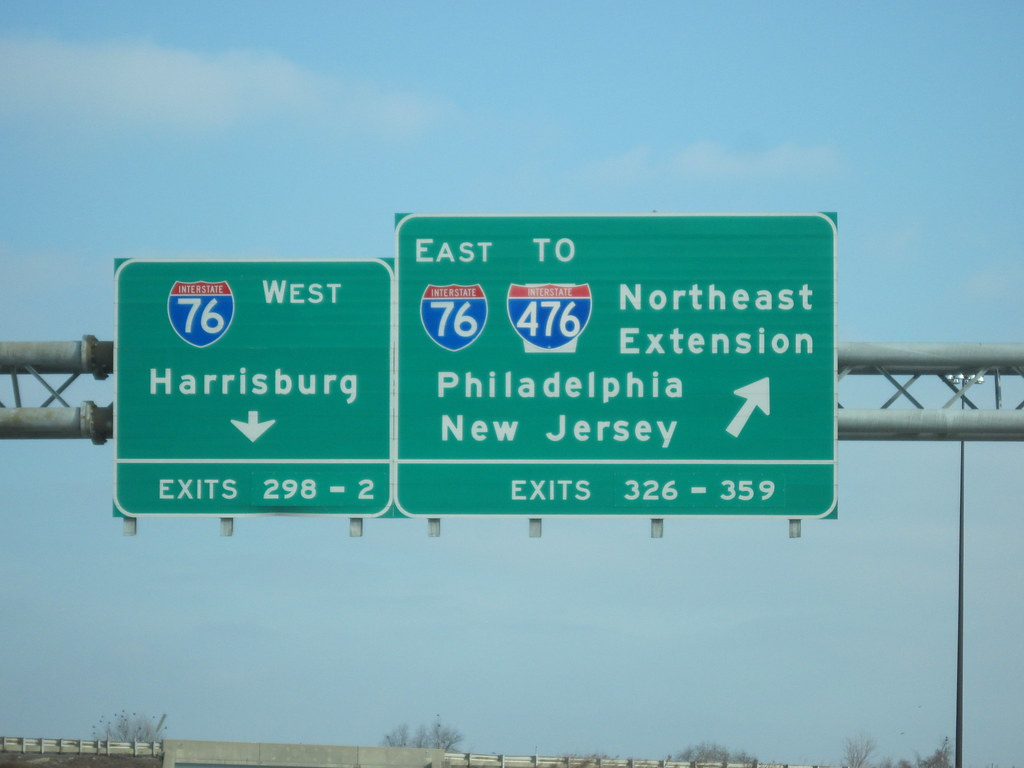 PA Turnpike Entrance Signs   These signs can be seen enterin