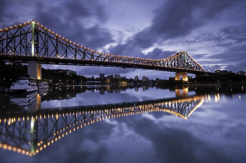 wideangle water sigma1020mmf456 pentaxk7 pentaxart pentax k7 justpentax geotagged australia sunrise river reflexions reflections cloudscapes clouds ferry brisbaneriver bridge brisbane storybridge