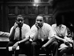 paul-schutzer-rev-ralph-abernathy-and-rev-martin-luther-king-jr-sitting-pensively-re-freedom-riders | by angela71469