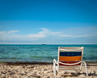 Beach chair on Serenity Bay | by Peter E. Lee