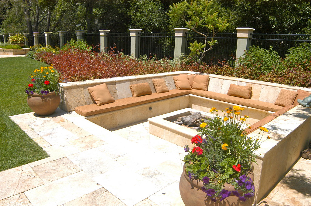 Outdoor Fireplace And Gardens Bay Area Landscaping By Lan Flickr