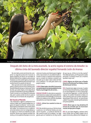 Magaly Solier en revista 'Caras'