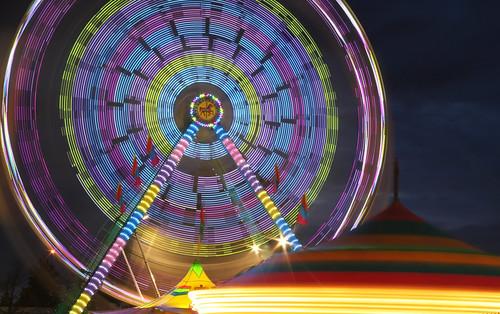carnival holland night fun lights different ferriswheel westmichigan