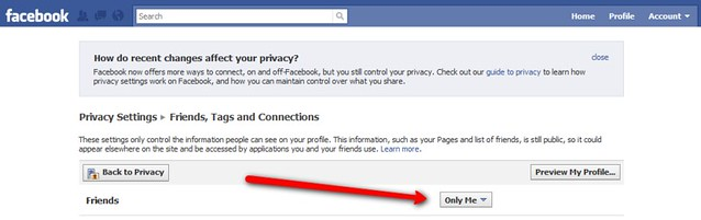 Facebook com has made it possible again to hide your frien