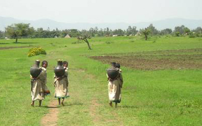 May/2010 - Women fetching water in Ethiopia (photo credit: ILRI/Ranjitha Puskur).