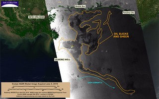 Deepwater Horizon Oil Spill – Envisat ASAR Image (with interpretation), June 3, 2010