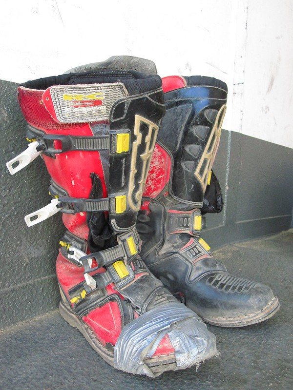 AXO Boots with Ductape - Adventure Ride Primm - Searchlight  - BoulderCity - Primm