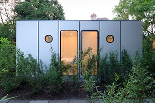 prefab 1960s harvard design London Wimbledon House pavers side exterior | by mod*mom