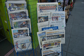 McSweeney's San Francisco Panorama amid New York Times & other newspapers at West Portal Daily | by Steve Rhodes