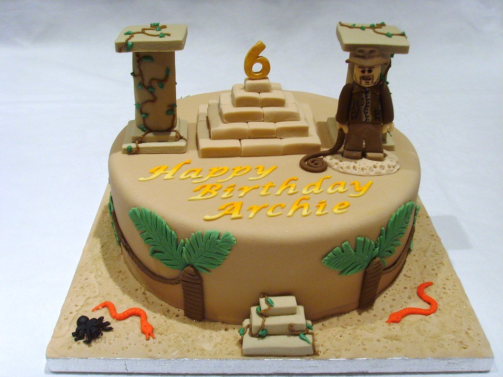 Phenomenal Lego Indiana Jones Cake Lego Indiana Jones Birthday Cake W Flickr Funny Birthday Cards Online Inifodamsfinfo