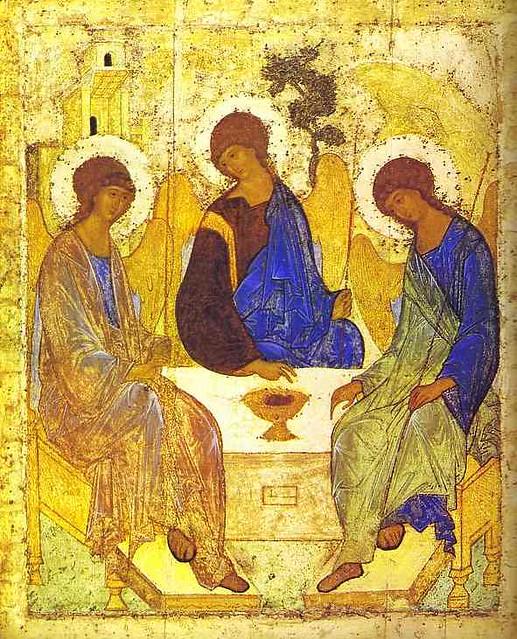Andrei Rublev  The Old Testament Trinity  c  1410s  Temper