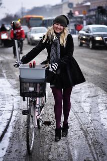 Copenhagen Winter Cycle Chic - Cycling in Winter in Copenhagen | by Mikael Colville-Andersen