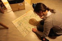 Studying tomorrow's route north... | by Nicolai Bangsgaard