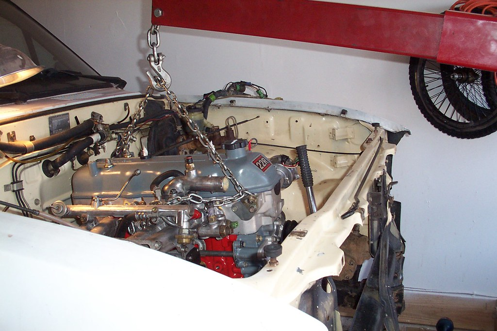 WE ALMOST HAVE THE ENGINE INSTALLED