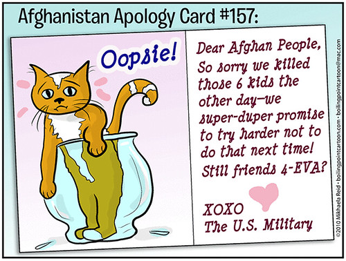 Cartoon: Afghanistan Apology Card #157 | by M1khaela