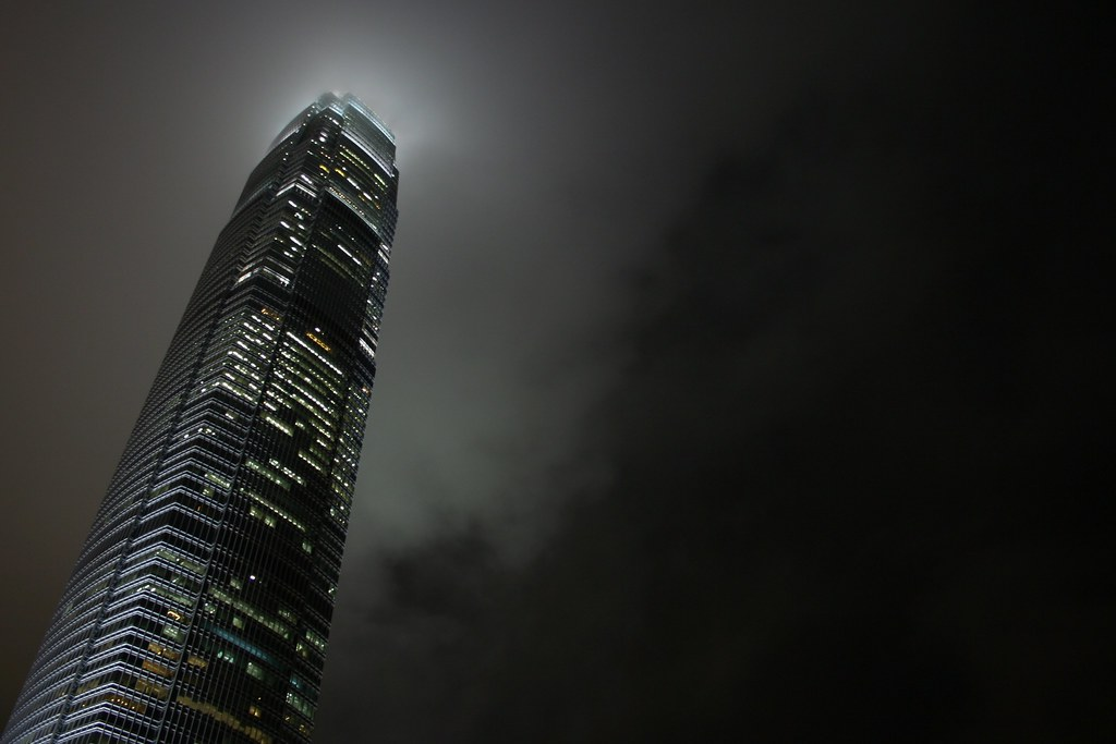 International Finance Centre Tower 2 at night