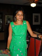 Lily Aramburo green dress