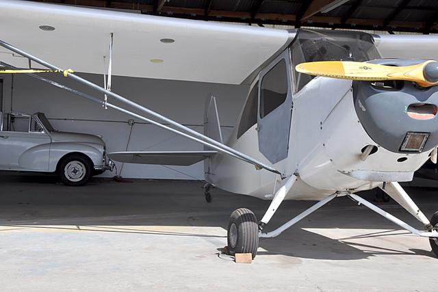 Morris and plane