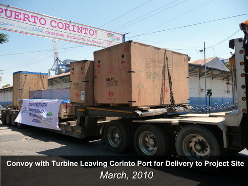 Turbine Convoy Leaving Corinto Port for Travel to Site | by Ram Power Photo Gallery