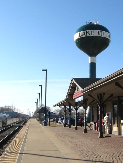 Metra Station In Lake Villa, IL