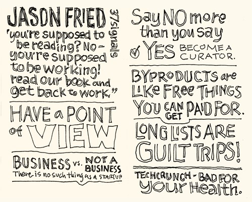 SXSW Interactive 2010: Jason Fried | by Mike Rohde