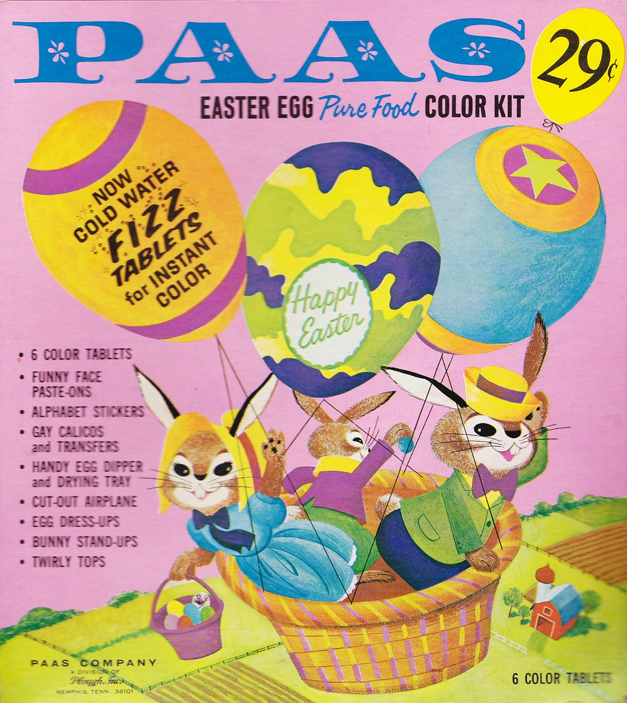 Vintage PAAS Easter Egg Coloring Kit 1960s | Heather David ...