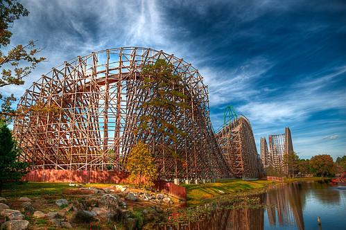 park sky usa nature clouds newjersey amusementpark rides rollercoaster greatadventure hdr d300 abigfave 6flagsgreatadventure