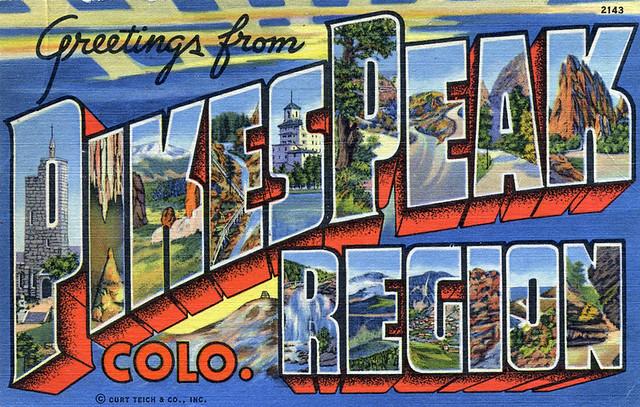 Greetings from Pikes Peak, Colorado, Region - Large Letter Postcard