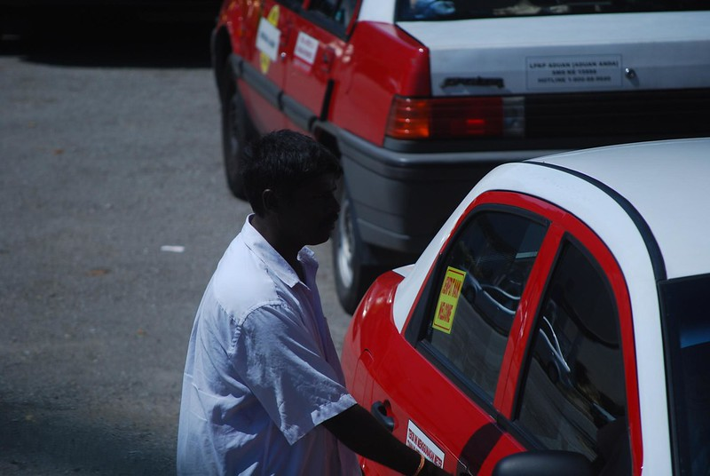 Indian taxi driver - Pekeliling Bus Station