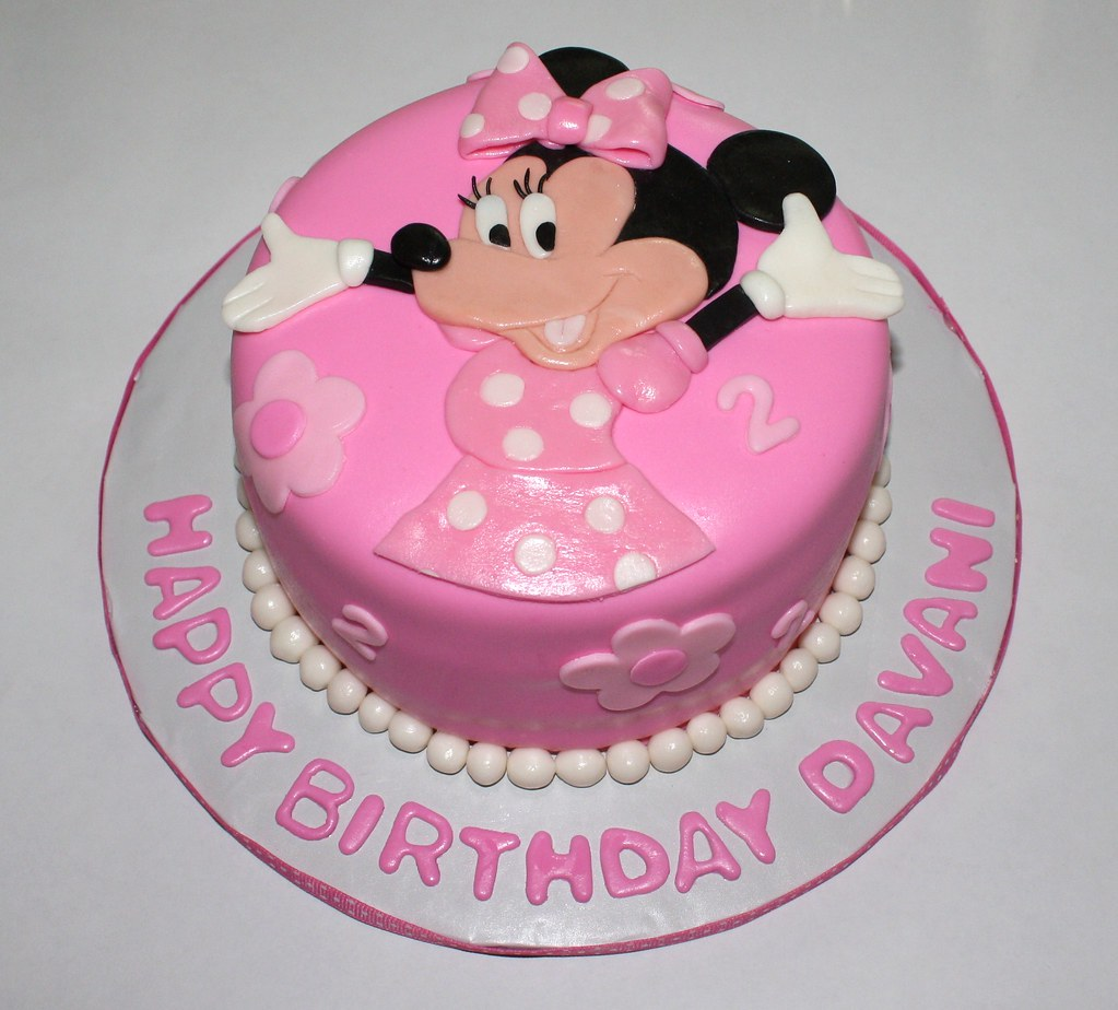 Amazing Minnie Mouse Cake This Is For A Little Girls 2Nd Birthday Flickr Personalised Birthday Cards Veneteletsinfo