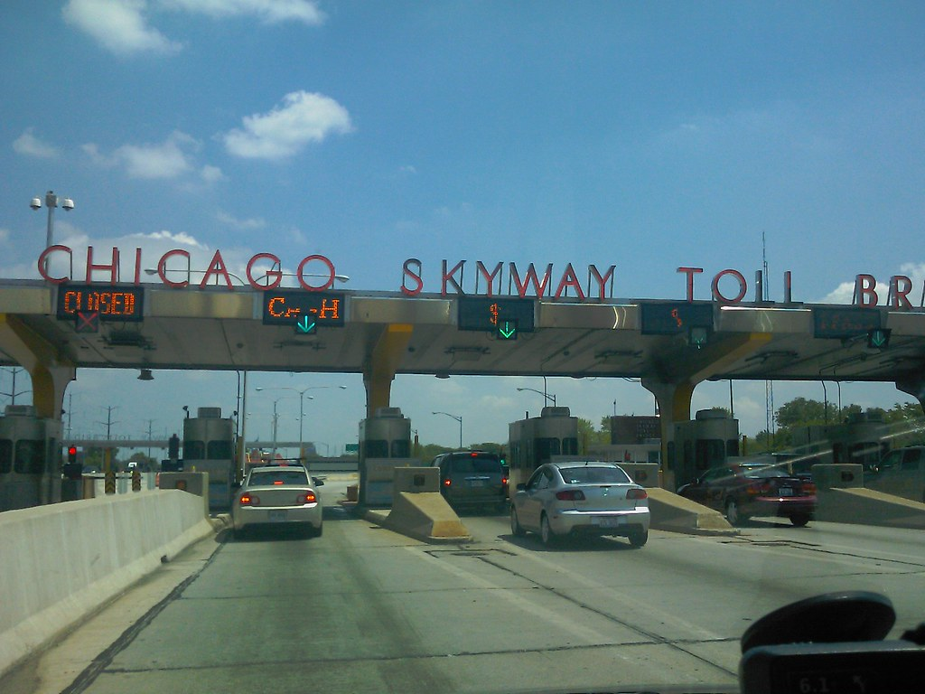 Chicago Skyway Toll Bridge  Almost in Indiana | slworking2