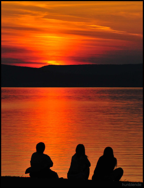 Sunset with viewers