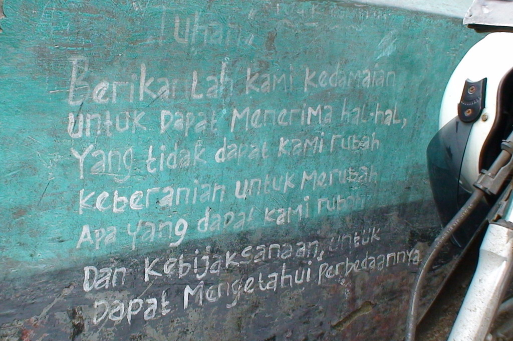 serenity prayer in bahasa the most wisdom quotes flickr