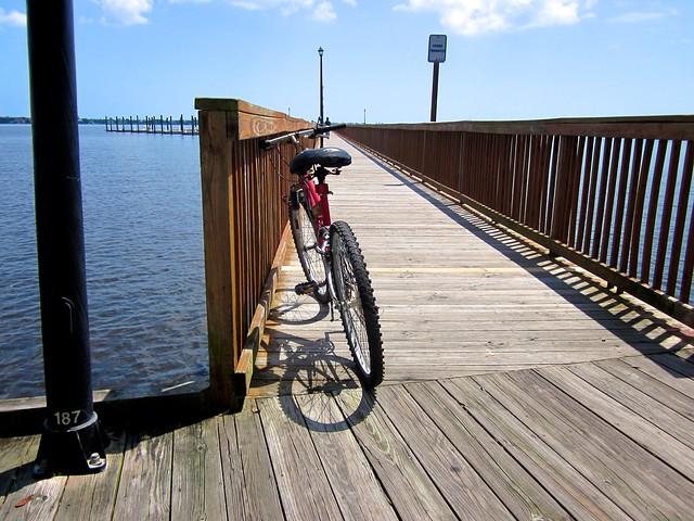 Bike on pier