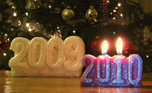2009 becomes 2010: Happy New Year! | by Optical illusion