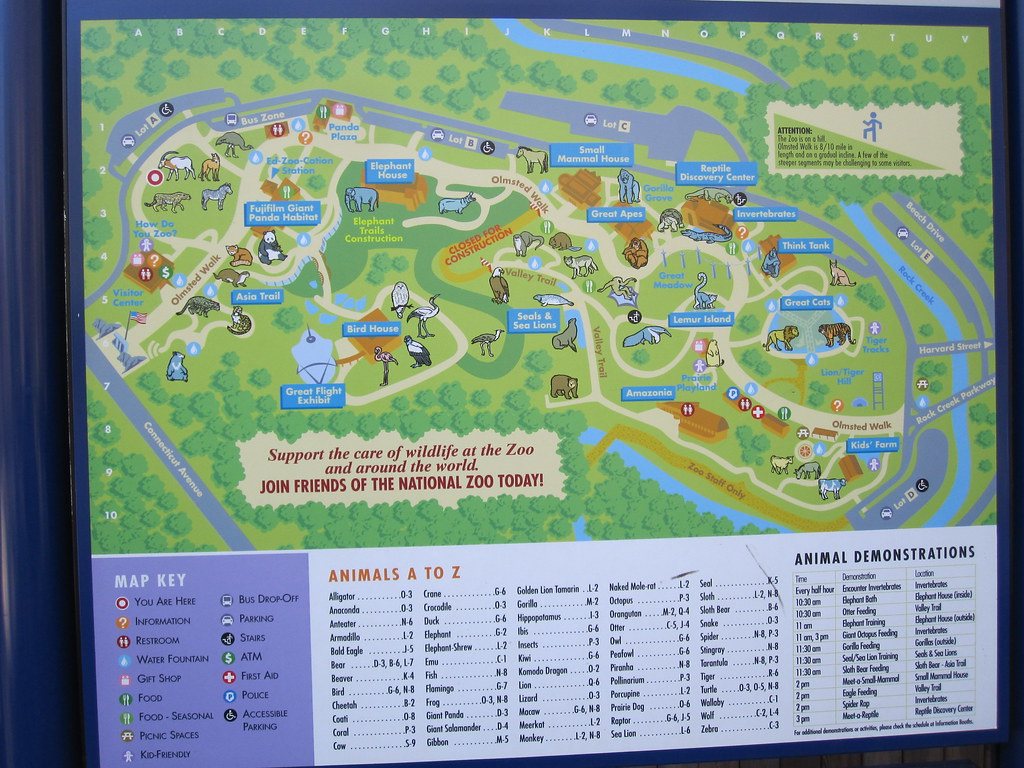 National Zoo in Washington DC   Zoo Map   Tom Lohdan   Flickr on