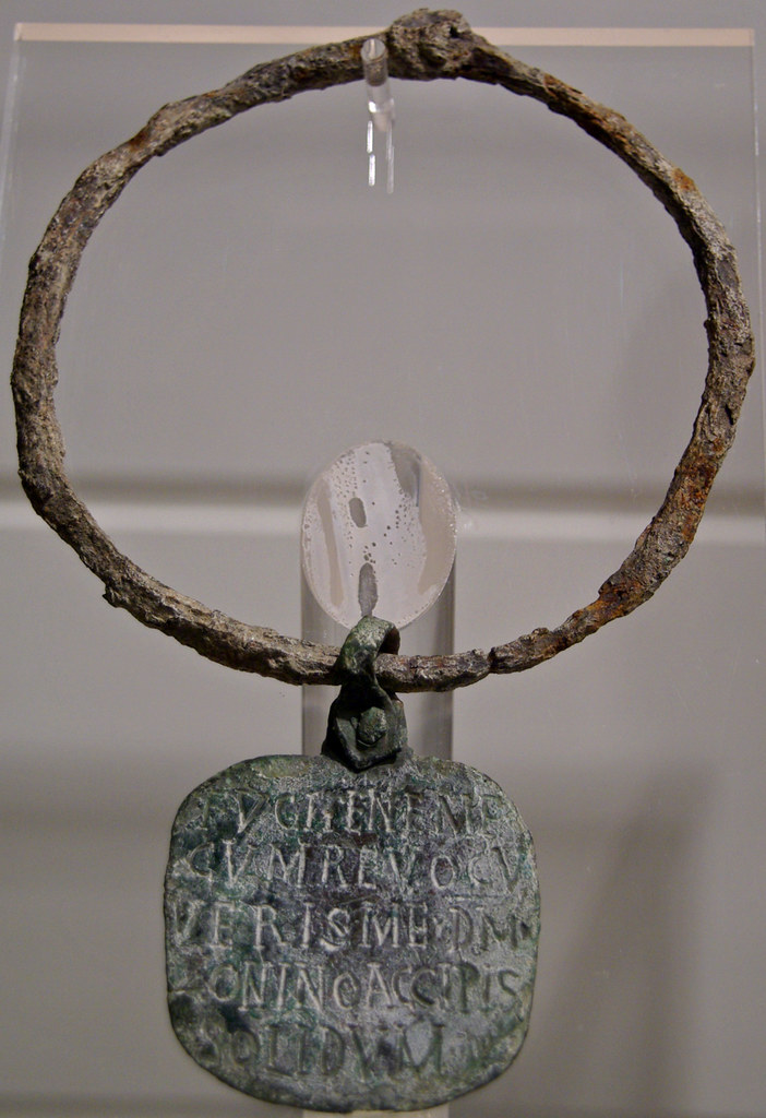 Collar d'esclau, Museo Nazionale Romano nelle Terme di Diocleziano, Roma