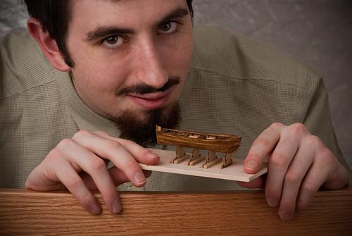 wood beard goatee boat model mustache